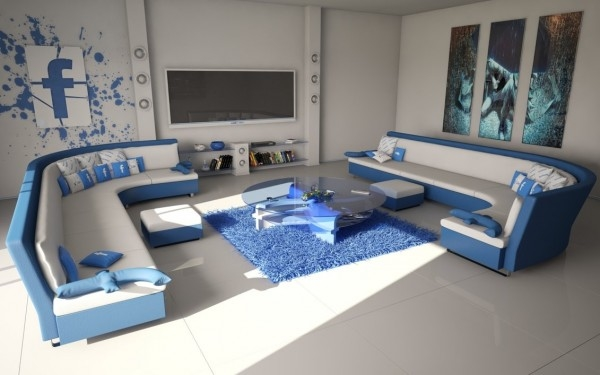 Facebook Themed Living Room