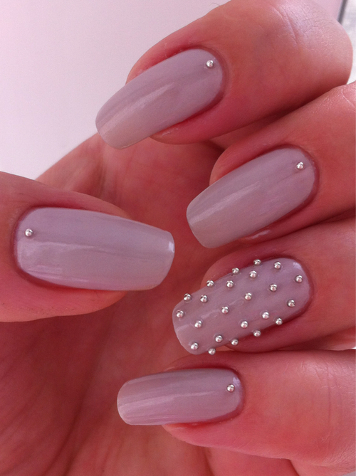 Lavender Stud Nails Pictures, Photos, And Images For