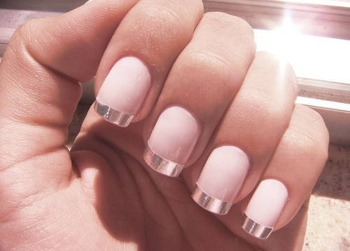 Pink Nails With Silver Tips Pictures, Photos, and Images for ...