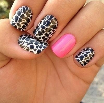 Black cheetah nails with pink nail pictures photos and images for black cheetah nails with pink nail solutioingenieria Choice Image