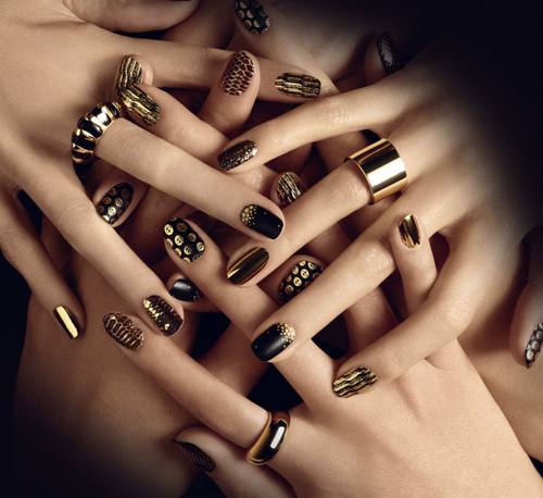 Gold And Black Nail Art Pictures, Photos, and Images for ...