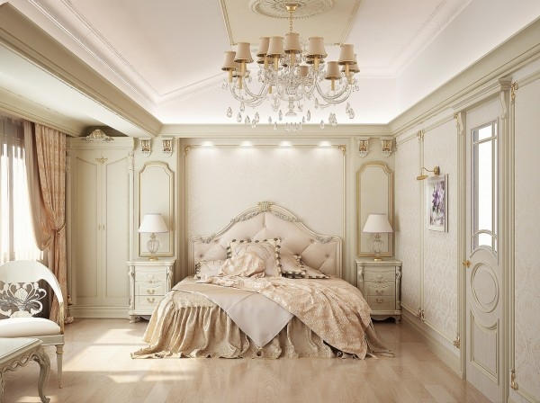 Charming French Inspired Elegant Bedroom