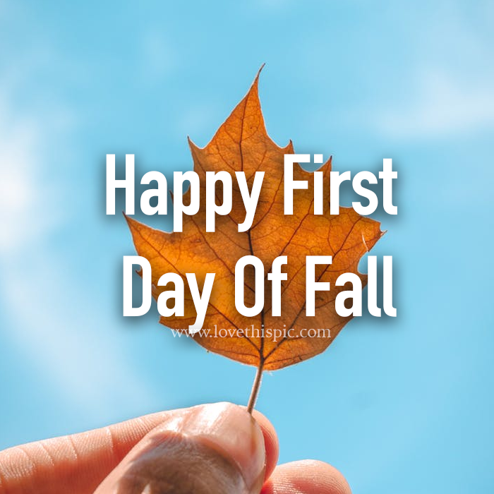 Brown Leaf First Day Of Fall Quote Pictures, Photos, and ...