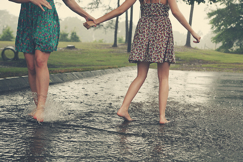 Friends in rain photos
