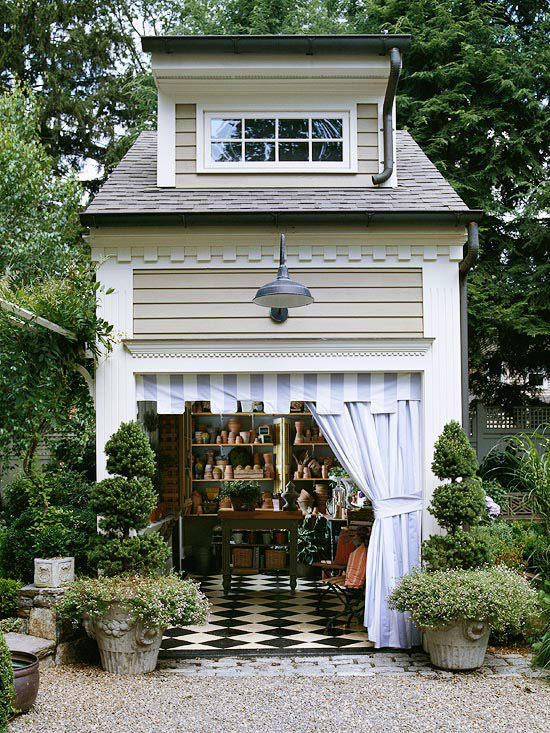 Two story potting shed garden pictures photos and images for How to build a 2 story shed