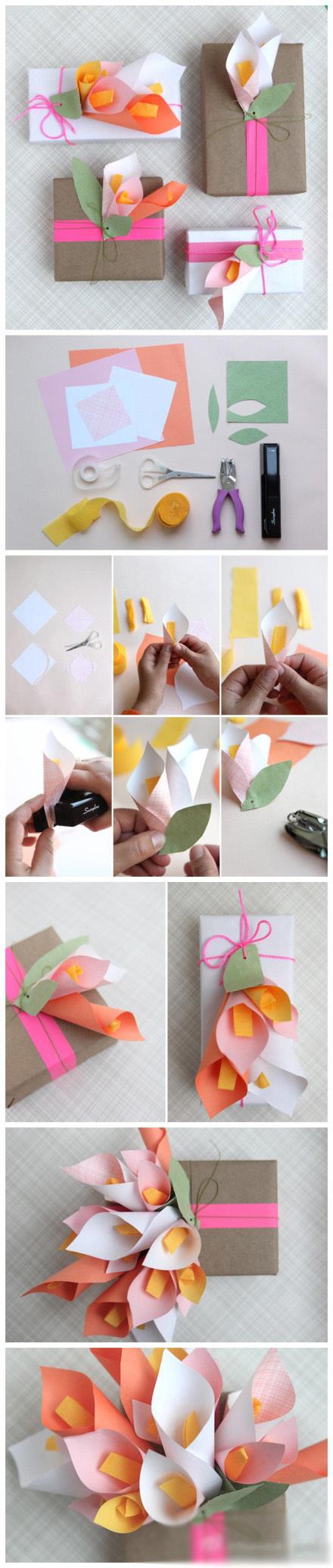 Цветы из бумаги своими руками. Мастер класс 78