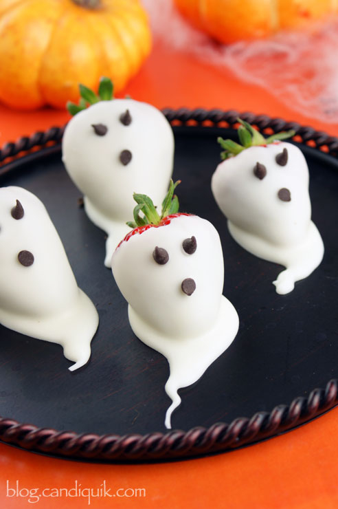White Chocolate Strawberry Ghosts Pictures Photos And