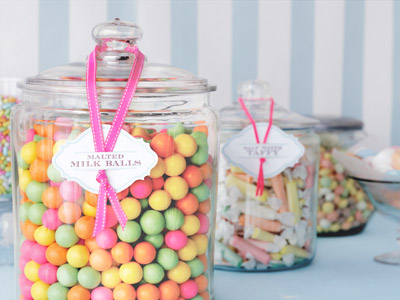 Elegant Candy Bar For Baby Shower