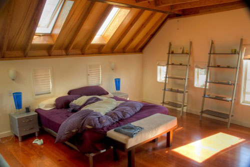 Attic To Cabin Style Bedroom