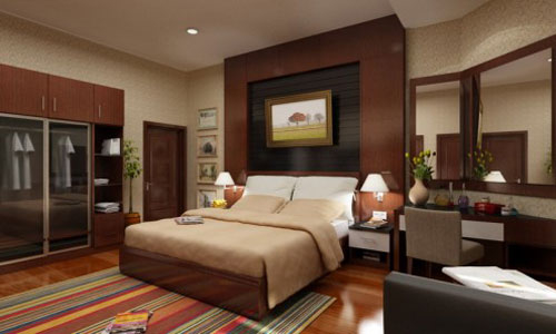 Clean modern bedroom with wood finishings pictures photos for Clean bedroom designs