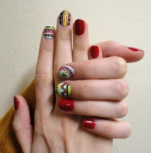 Tribal Nail Art: Tribal Print Nail Art Pictures, Photos, And Images For