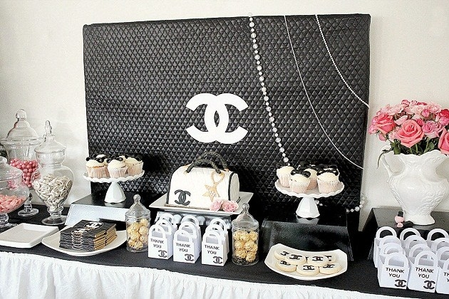 Chanel Theme 21st Birthday Party