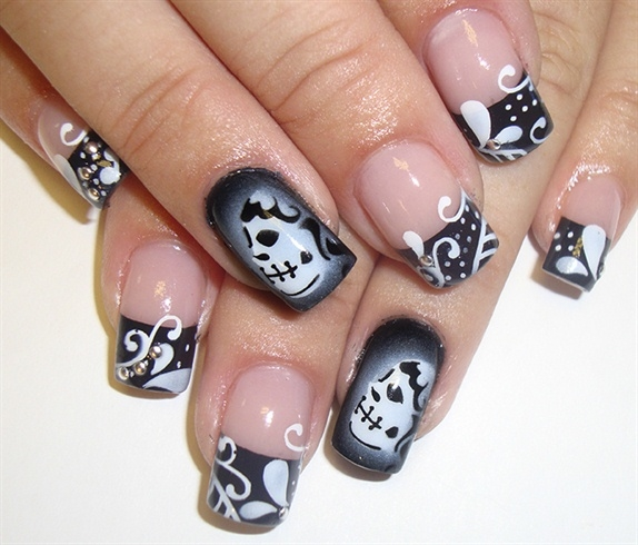 Dark French Nails Pictures Photos And Images For Facebook Tumblr