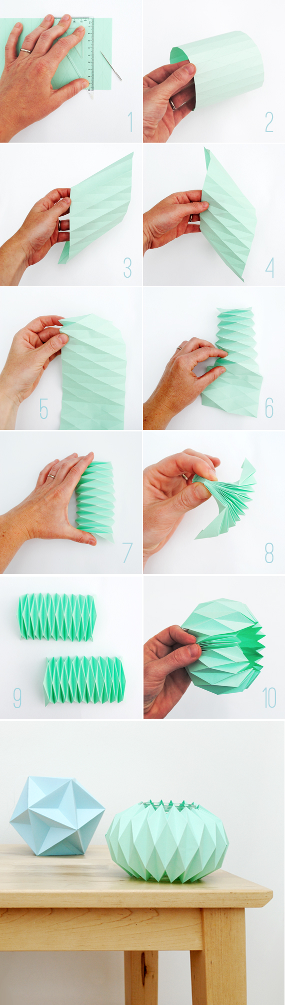 Diy accordion paper folding candle holder pictures photos and images for facebook tumblr Home decor craft step by step