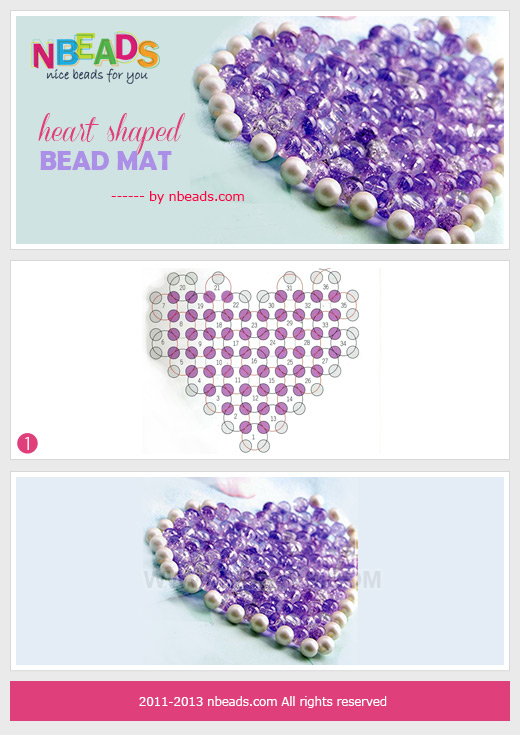 Heart Shaped Bead Mat