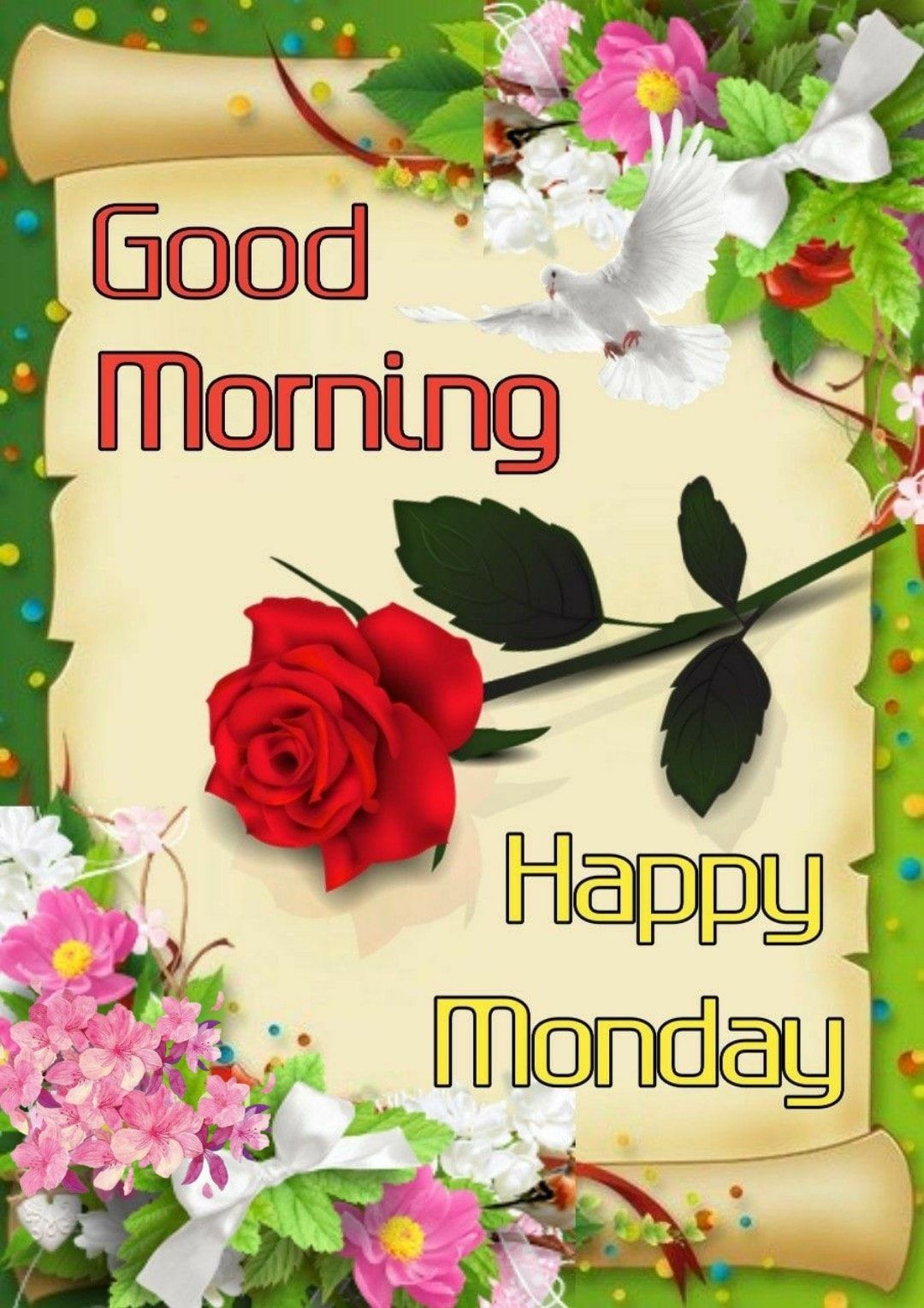 Flowery Good Morning Happy Monday Quote Pictures Photos And Images For Facebook Tumblr Pinterest And Twitter