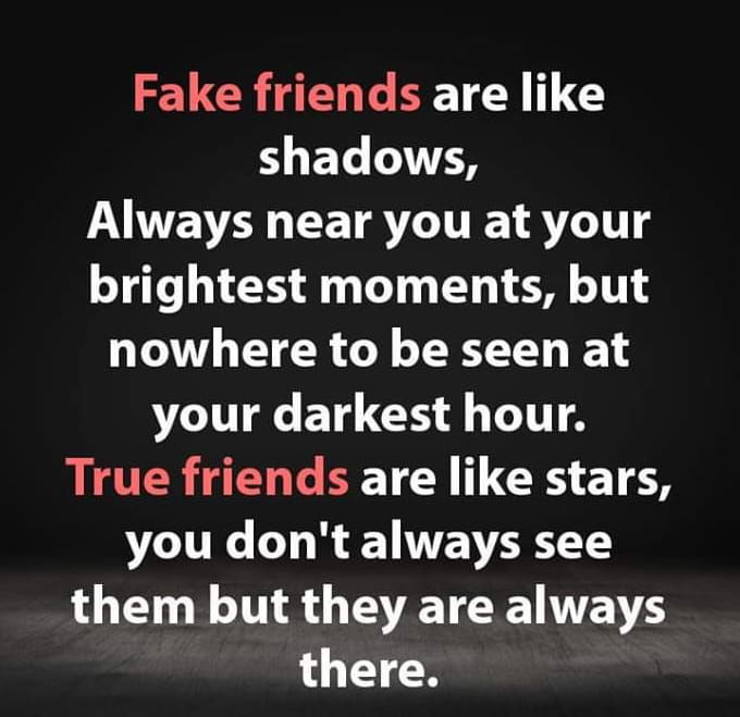 Real Friends Vs Fake Friends Quotes Funny Best Friend Quotes