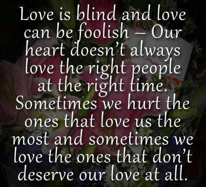 Love Is Blind Quotes Love Is Blind Pictures, Photos, and Images for Facebook, Tumblr  Love Is Blind Quotes