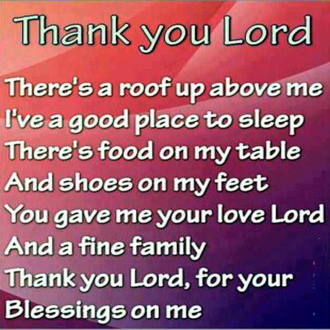 Image result for thank you lord for your blessings