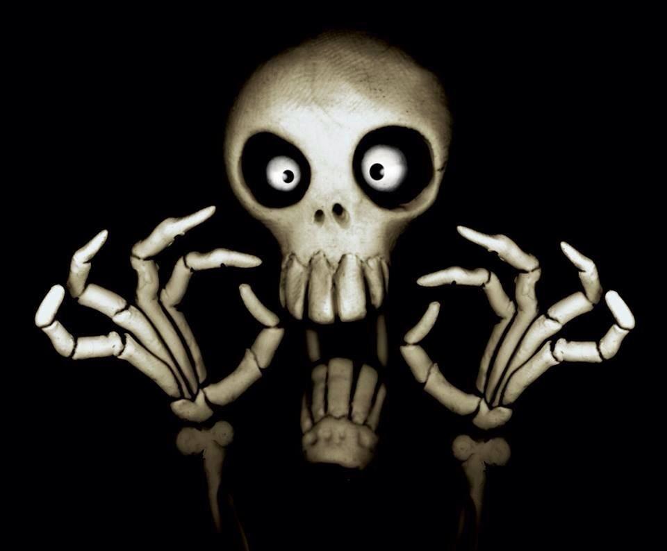 image gallery scary skulls
