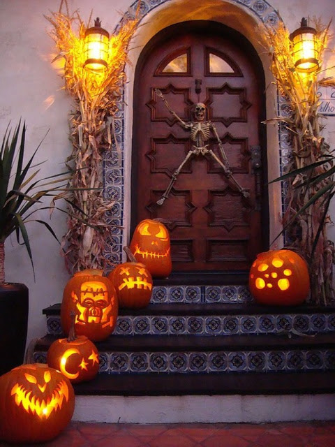 Halloween Decorated Front Entry Pictures Photos And