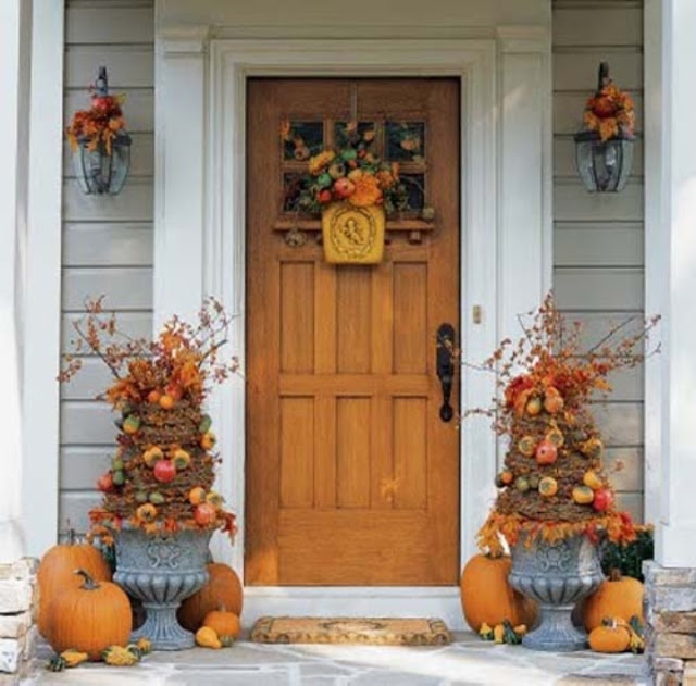 Front Door Topiary: Pretty Fall Topiary's For Front Entry Pictures, Photos
