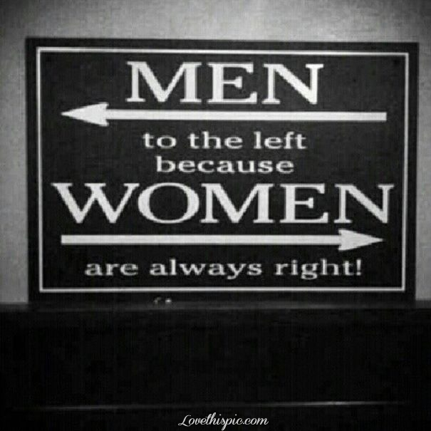 Men Vs Women Funny Quotes: Men Left Woman Right Pictures, Photos, And Images For