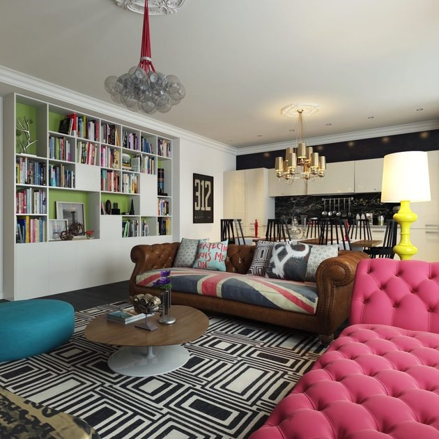 Pop art style apartment decorating pictures photos and for Modern english interior design