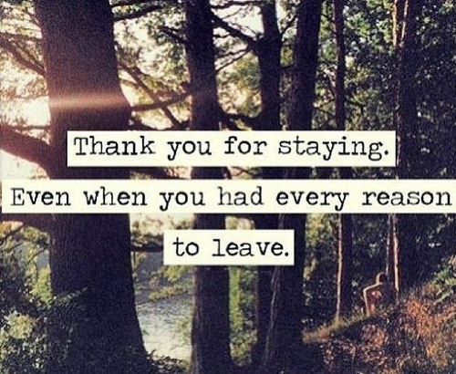 Image result for thank you for staying quotes