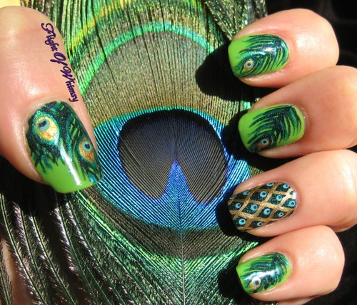 Peacock Nail Art Pictures Photos And Images For Facebook Tumblr Pinterest And Twitter