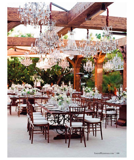 Formal Outdoor Wedding Reception Pictures, Photos, And