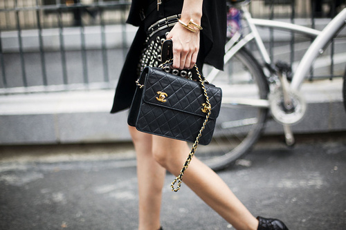 Chanel Bag Black Black And Gold Chanel Purse