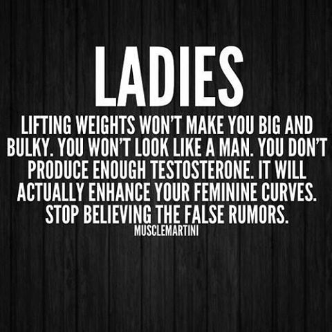 Lifting Quotes Enchanting Ladies Lifting Wont Make You Big And Bulky Pictures Photos And