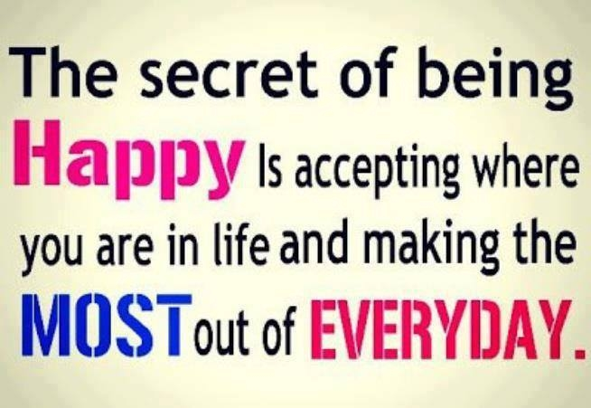Quotes About Being Happy With Who You Are The Secret Of Being Ha...
