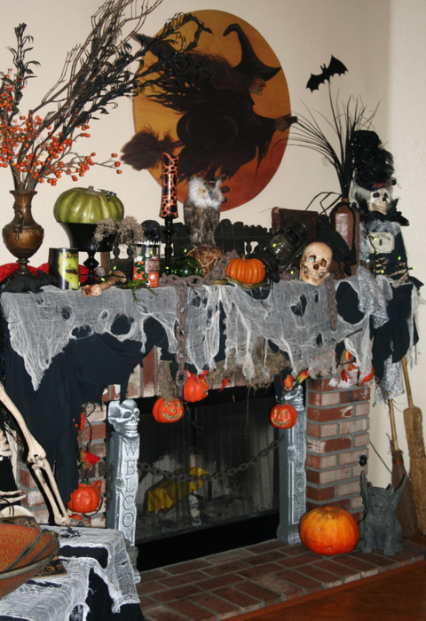 Halloween Fireplace Decorations Pictures Photos And Images For