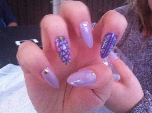 Purple Aztec Nail Art Pictures, Photos, and Images for Facebook