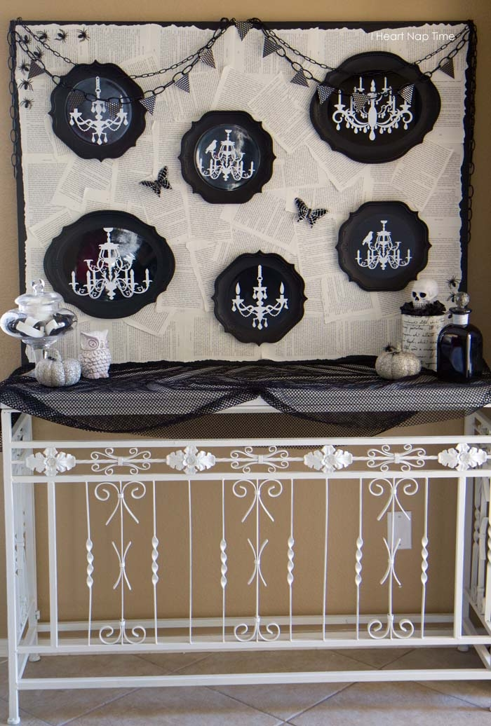 Spooky Halloween Mantel Backdrop