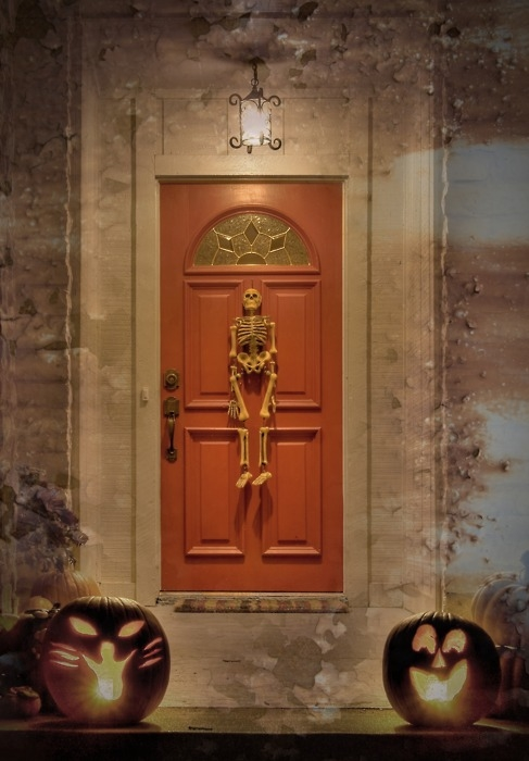 Porch door skeleton decoration & Porch Door Skeleton Decoration Pictures Photos and Images for ...