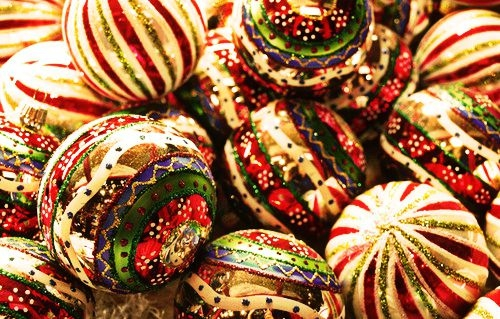 festive christmas ornaments pictures photos and images