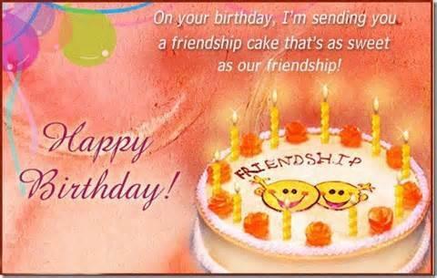 Happy Birthday Friendship Cake