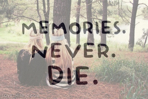 Friendship And Memories Quotes Tumblr : Memories never die pictures photos and images for