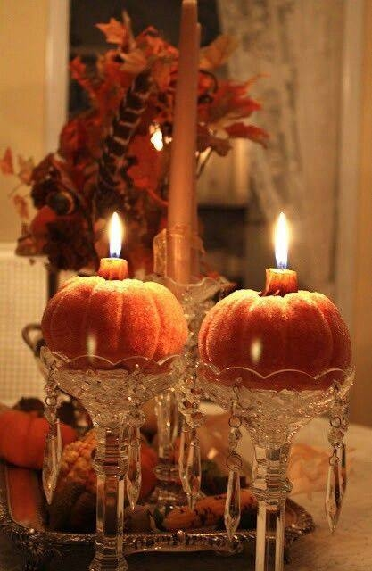 Elegant Pumpkin Candles Pictures Photos And Images For