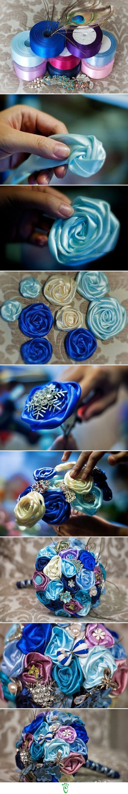 Diy Wedding Bouquets Without Flowers : Diy ribbon flower bouquet pictures photos and images for