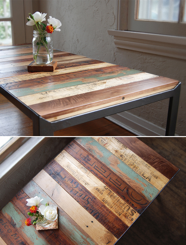 Recycled art table pictures photos and images for for Table exterieure originale