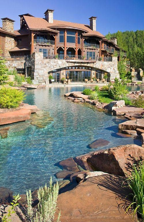 Natural Looking Backyard Pool : Elaborate Pond Luxury Home Pictures, Photos, and Images for Facebook