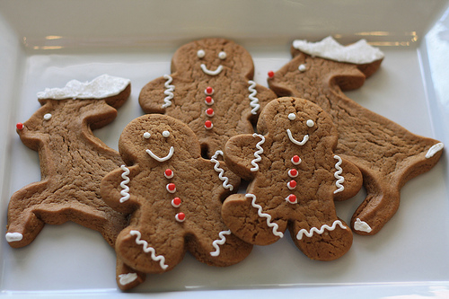 Gingerbread Man And Reindeer Cookies Pictures Photos And Images