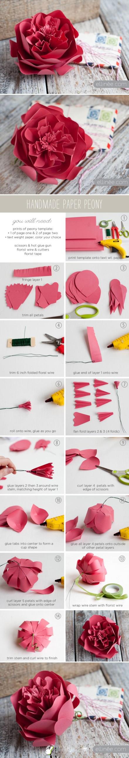 Как делать крупные цветы из бумаги по шаговой инструкции фото