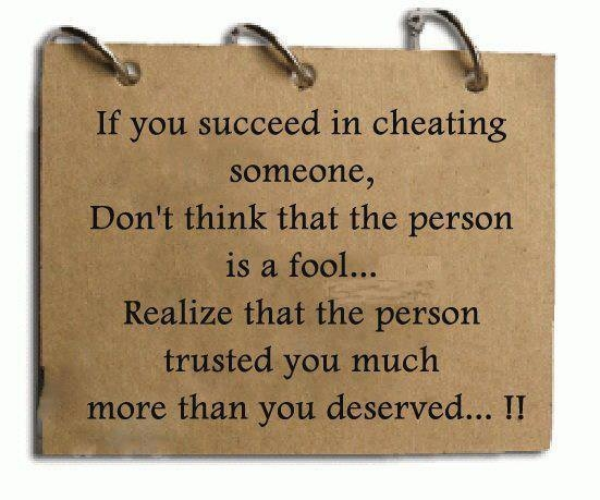 I Hate Liars And Cheaters Quotes If You Succeed In Chea...