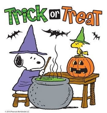 Snoopy and woodstock trick or treat pictures photos and - Snoopy halloween images ...