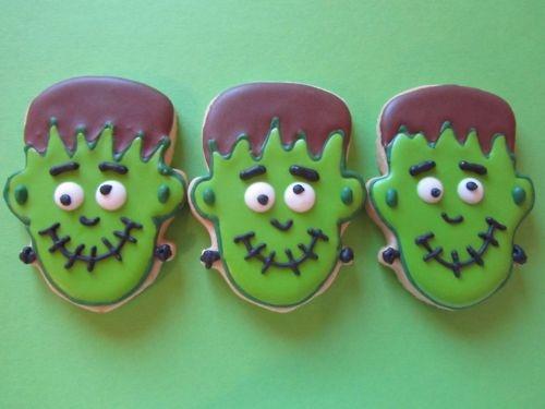 Frankenstein Monster Halloween Cookies Pictures Photos